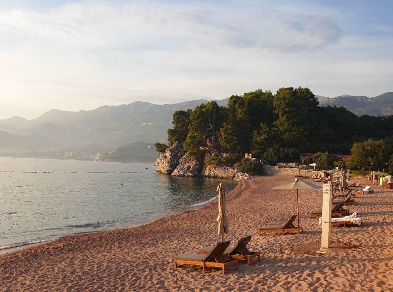 Strand in der Nähe von Budva